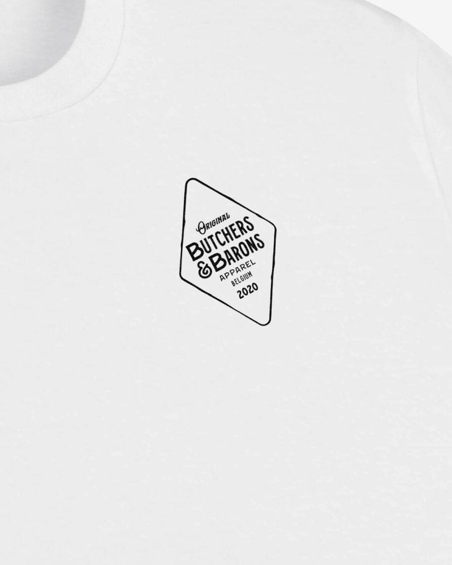 Original white t-shirt by Butchers & Barons